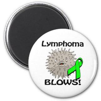 Lymphoma Blows Awareness Design 6 Cm Round Magnet