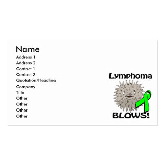 Lymphoma Blows Awareness Design Double-Sided Standard Business Cards (Pack Of 100)