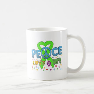 Lymphoma Cancer Groovy Peace Love Cure Mug