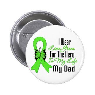 Lymphoma Cancer Ribbon My Hero My Dad 6 Cm Round Badge