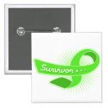 Lymphoma Cancer Survivor Ribbon Pinback Buttons