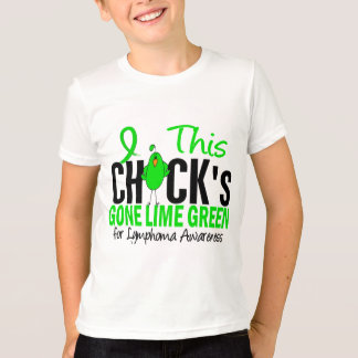 LYMPHOMA Chick Gone Lime Green T-Shirt