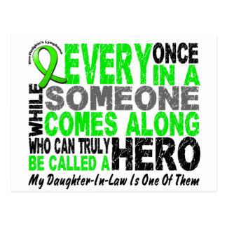 Lymphoma HERO COMES ALONG 1 Daughter-In-Law Postcard