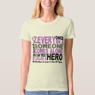 Lymphoma Hodgkin's HERO COMES ALONG Brother-In-Law Tee Shirt