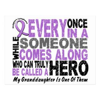 Lymphoma Hodgkin's HERO COMES ALONG Granddaughter Postcard