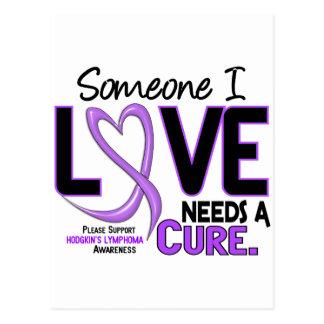Lymphoma Hodgkin's NEEDS A CURE 2 Postcard
