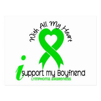 LYMPHOMA I Support My Boyfriend Postcard