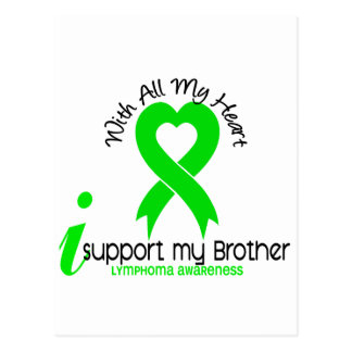 LYMPHOMA I Support My Brother Postcard