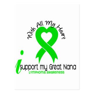 LYMPHOMA I Support My Great Nana Postcard