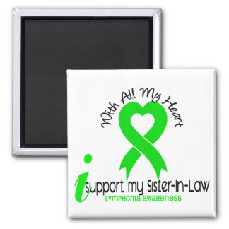 LYMPHOMA I Support My Sister-In-Law Square Magnet