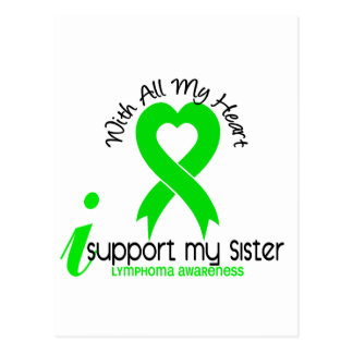 LYMPHOMA I Support My Sister Postcard