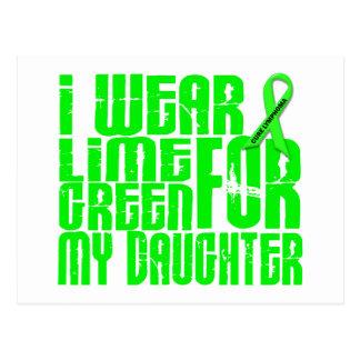 Lymphoma I WEAR LIME GREEN 16 Daughter Postcard