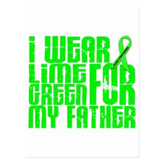 Lymphoma I WEAR LIME GREEN 16 Father Postcard