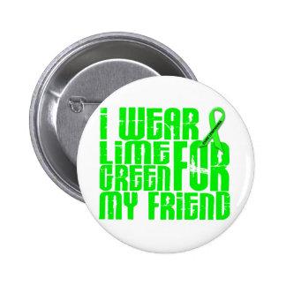 Lymphoma I WEAR LIME GREEN 16 Friend 6 Cm Round Badge