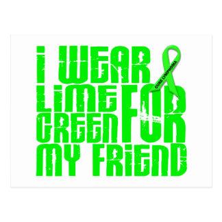 Lymphoma I WEAR LIME GREEN 16 Friend Postcard