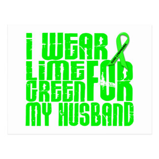 Lymphoma I WEAR LIME GREEN 16 Husband Postcard