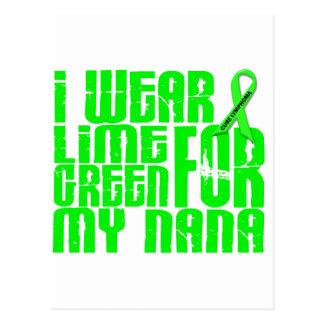 Lymphoma I WEAR LIME GREEN 16 Nana Postcards