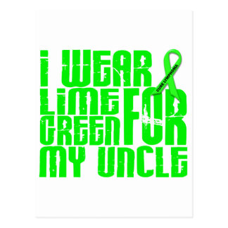 Lymphoma I WEAR LIME GREEN 16 Uncle Postcard