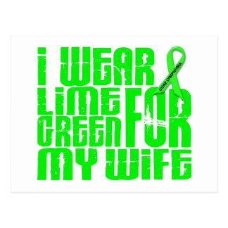 Lymphoma I WEAR LIME GREEN 16 Wife Postcard