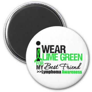 Lymphoma I Wear Lime Green For Best Friend Fridge Magnet