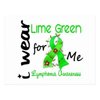 Lymphoma I Wear Lime Green For ME 43 Postcard