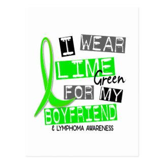 Lymphoma I Wear Lime Green For My Boyfriend 37 Postcard