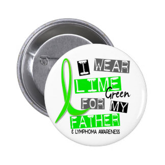 Lymphoma I Wear Lime Green For My Father 37 6 Cm Round Badge