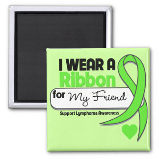 Lymphoma I Wear Lime Green For My Friend Refrigerator Magnet