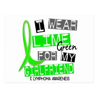 Lymphoma I Wear Lime Green For My Girlfriend 37 Postcard