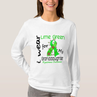 Lymphoma I Wear Lime Green For My Granddaughter 43 T-Shirt