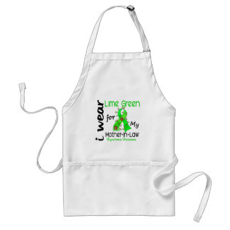 Lymphoma I Wear Lime Green For My Mother-In-Law 43 Apron