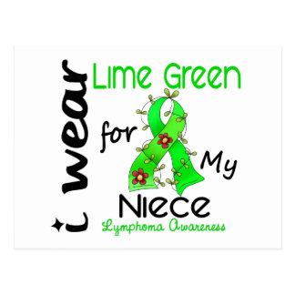 Lymphoma I Wear Lime Green For My Niece 43 Postcard