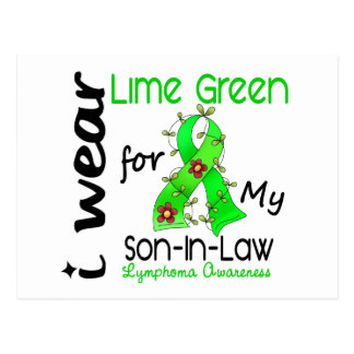 Lymphoma I Wear Lime Green For My Son-In-Law 43 Postcard