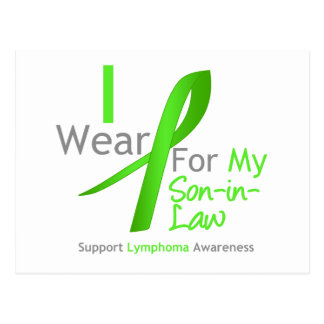 Lymphoma I Wear Lime Green For My Son-in-Law Postcard