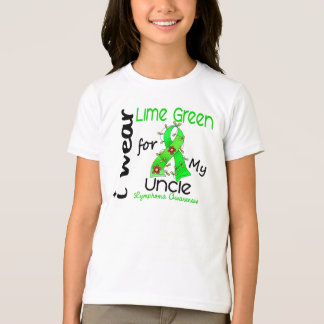 Lymphoma I Wear Lime Green For My Uncle 43 Tee Shirt