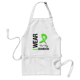 Lymphoma I Wear Lime Green Ribbon For My Grandson Apron