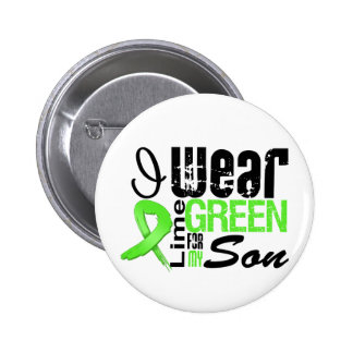 Lymphoma I Wear Lime Green Ribbon SON 6 Cm Round Badge