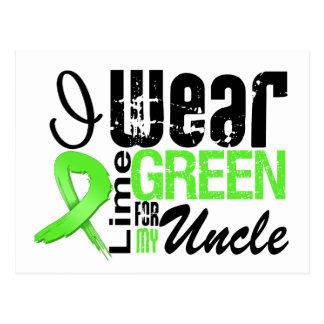 Lymphoma I Wear Lime Green Ribbon UNCLE Postcards