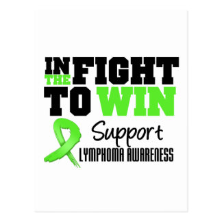 Lymphoma In The Fight To Win Postcard