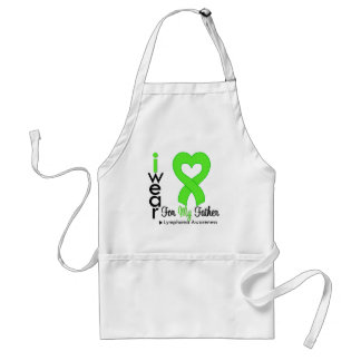 Lymphoma Lime Green Heart Support Father Aprons