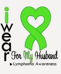 Lymphoma Lime Green Heart Support Husband Tee Shirt
