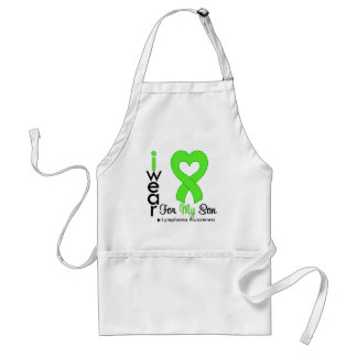 Lymphoma Lime Green Heart Support Son Apron