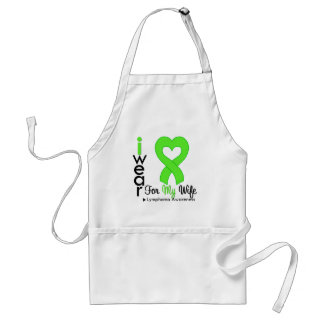 Lymphoma Lime Green Heart Support Wife Aprons