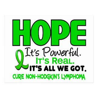 Lymphoma Lime Green HOPE 1 Postcard
