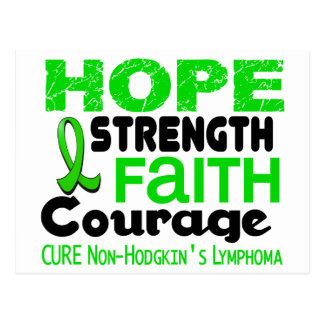 Lymphoma Lime Green HOPE 3 Non-Hodgkin's Postcard