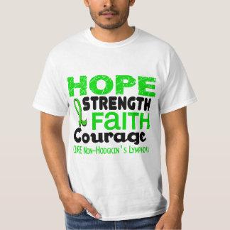 Lymphoma Lime Green HOPE 3 Non-Hodgkin's Tee Shirts