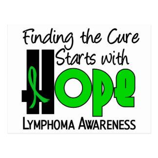 Lymphoma Lime Green HOPE 4 Non-Hodgkin's Postcard