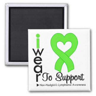 Lymphoma Lime Green Non Hodgkins Support Square Magnet