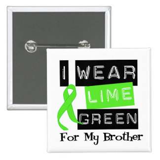 Lymphoma Lime Green Ribbon Brother 15 Cm Square Badge