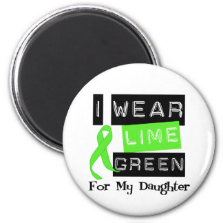 Lymphoma Lime Green Ribbon Daughter 6 Cm Round Magnet